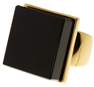 Trina Turk Large Square Stone Ring - Size 7 $98 thestylecure.com