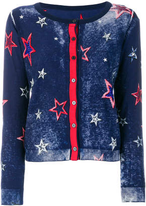 Twin-Set star embroidered cardigan