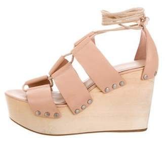 Loeffler Randall Leather Platform Wedges