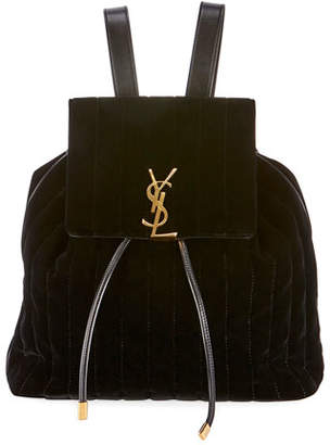 Saint Laurent Vicky Quilted Drawstring Backpack