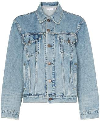 RE/DONE Perfect boxy fit distressed detail denim jacket