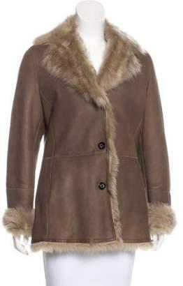 Salvatore Ferragamo Fur Lined Leather Coat