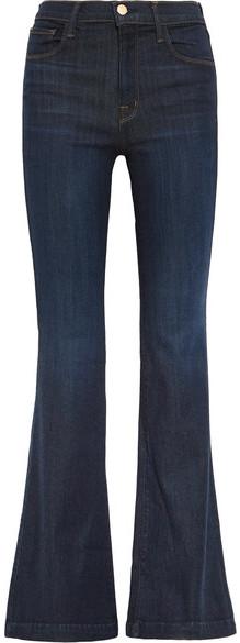 J Brand - Maria High-rise Flared Jeans - Dark denim