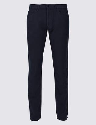M&S Collection Italian Moleskin Slim Fit 5 Pocket Trousers