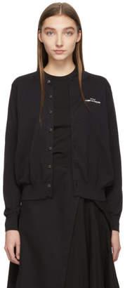 Comme des Garcons Black Logo Cardigan