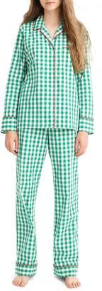 J.Crew Vintage Green Gingham Pajamas