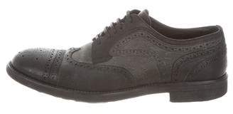 Dolce & Gabbana Leather Round-Toe Oxfords