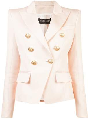 Balmain fitted double breasted blazer