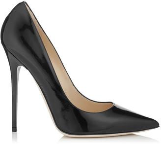 Jimmy Choo ANOUK Black Patent Leather Pointy Toe Pumps
