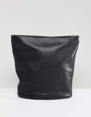 Vagabond Madrid Black Leather Large Cross Body Bag