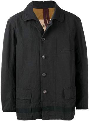 Ziggy Chen mesh knit shirt jacket
