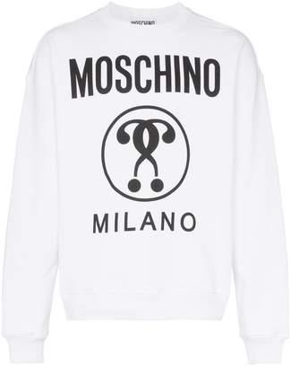 Moschino cotton crew neck logo sweatshirt