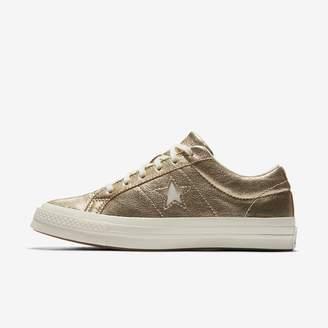 Converse One Star Heavy Metallic Leather Low Top Unisex Shoe