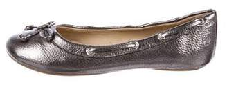 Sperry Girls' Metallic Leather Flats