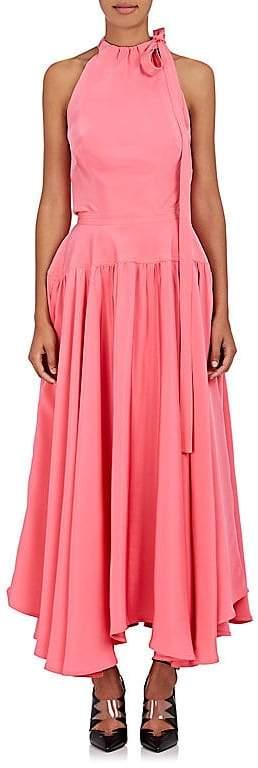 CALVIN KLEIN 205W39NYC Women's Silk Cady Halter Gown