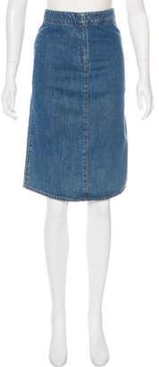 Stella McCartney Denim Knee-Length Skirt
