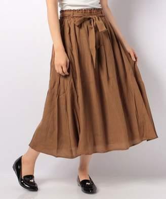 Ikka (イッカ) - ikka ベルト付きロングスカート