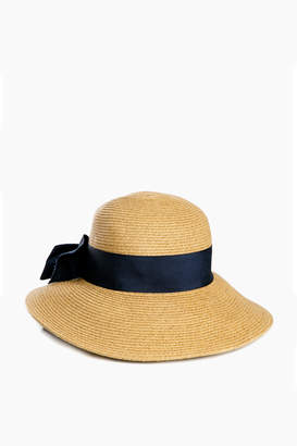 Jocelyn Toucan Hats Navy Packable Wide Bow Sunhat