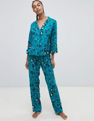 Asos Design DESIGN leopard print traditional pant set