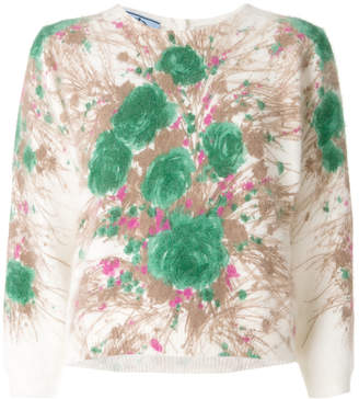 Prada abstract floral sweater