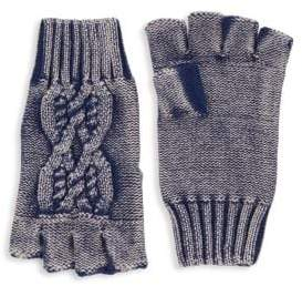 Saks Fifth Avenue MODERN Cable-Knit Fingerless Gloves
