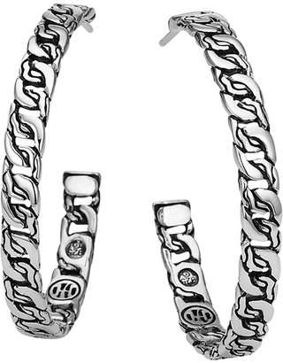 John Hardy 37mm Medium Woven Chain Hoop Earrings