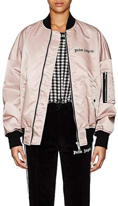 Palm Angels Women's Logo Oversized Bomber Jacket - Pink