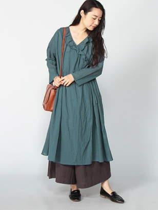 SM2 (サマンサ モスモス) - Samansa Mos2 衿フリル羽織りワンピコート サマンサモスモス コート/ジャケット