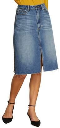 Habitual Yasmina High Rise Plaid Back Skirt