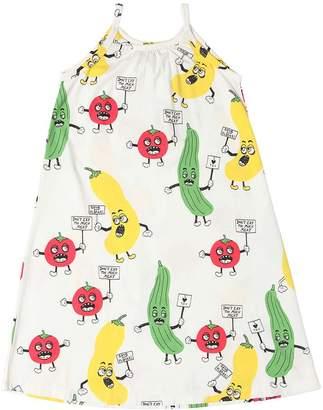 Mini Rodini Vegetable Print Cotton Jersey Dress