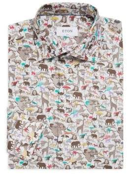 Eton Slim-FIt Safari-Print Shirt