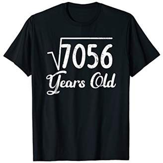 Square Root 7056 84th Birthday Math made in 1935 T-Shirt
