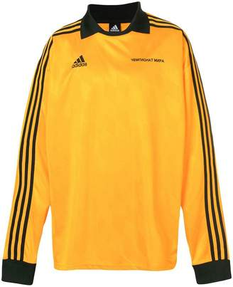 Gosha Rubchinskiy x Adidas logo long-sleeve polo top