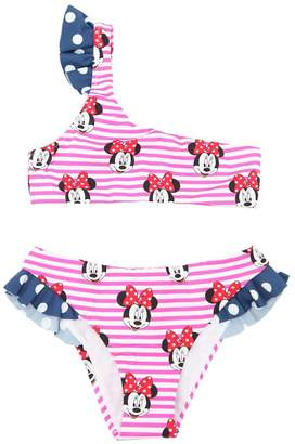 MC2 Saint Barth Minnie Print Striped Lycra Bikini