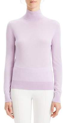Theory Foundation Turtleneck Silken Knit Sweater