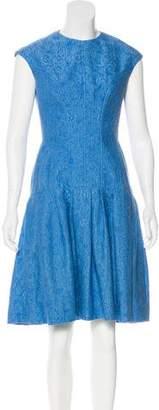 Lela Rose Sleeveless Cocktail Dress