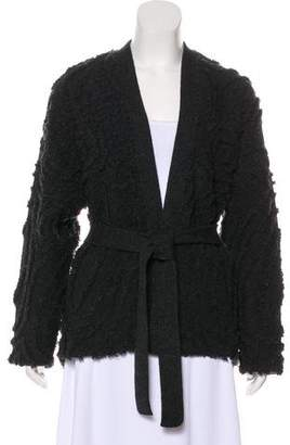 Maiyet Wool Open-Front Cardigan