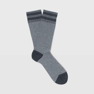 Club Monaco Herringbone Sock