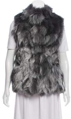 Jocelyn Metallic Fur Vest w/ Tags Grey Metallic Fur Vest w/ Tags