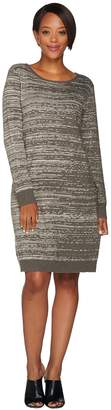 Halston H By H by Double Knit Engineered Jacquard Sweater Dress