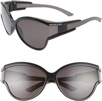 Balenciaga 63mm Oversize Cat Eye Sunglasses