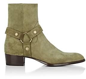 Saint Laurent Men's Wyatt Suede Boots - Sand