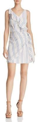 GUESS Laguna Metallic Striped Dress