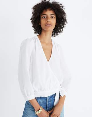 Madewell Wrap Top in Eyelet White