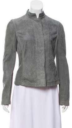 Max Mara Suede Button-Up Jacket