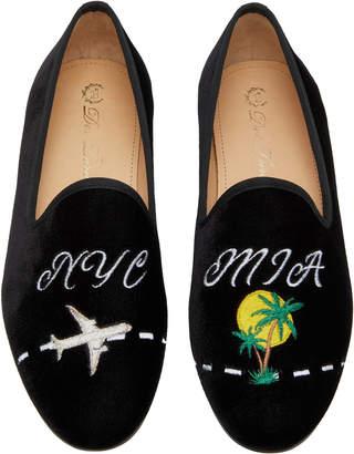Del Toro x Moda Operandi NYC To MIA Velvet Loafers