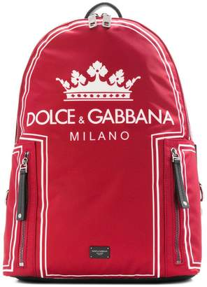 Dolce & Gabbana Crown logo print backpack