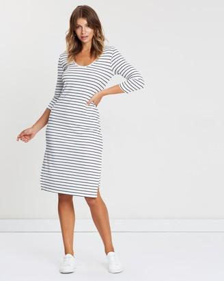 3/4 Sleeve Midi Dress