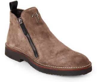 Giuseppe Zanotti Dark Grey Disparr Suede Ankle Boots
