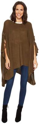Collection XIIX Grommet Tie Up Poncho Women's Clothing